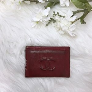[CHANEL] Classic Caviar Card Holder